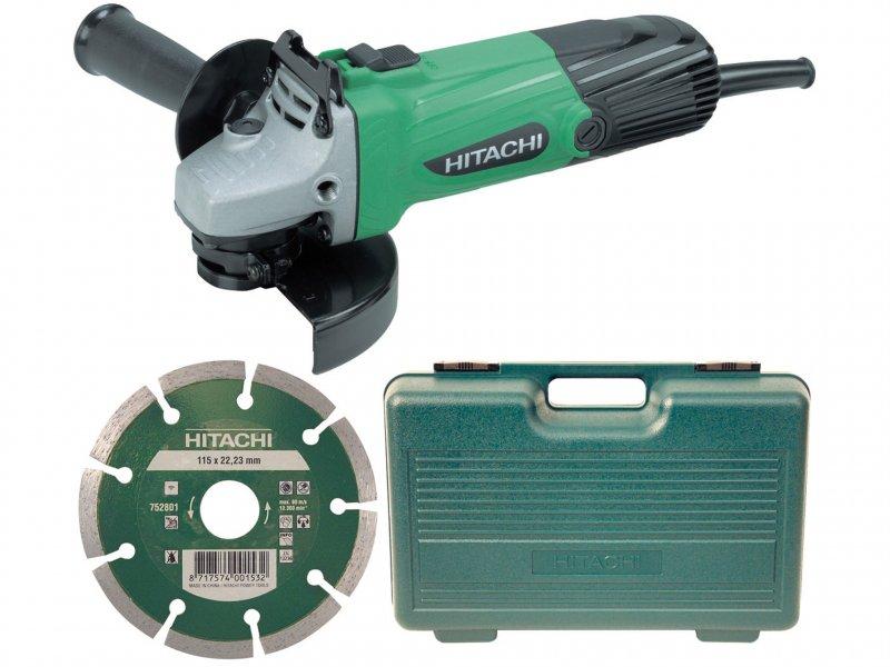 Hitachi-G12SSCD-Grinder-115mm-Diamond-Blade-Case-110-Volt