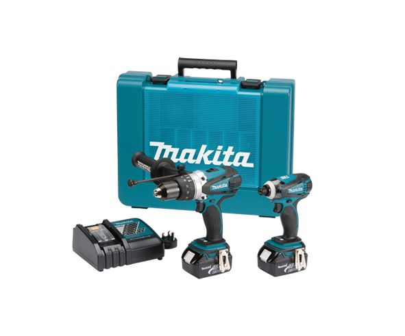 makita dlx2005m 18v 4ah lxt dhp458 dtd146 twinpack ebay. Black Bedroom Furniture Sets. Home Design Ideas