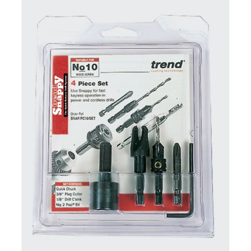 TREND SNAP/PC8/SET SNAPPY PLUG CUTTER NO 8 SCREW SET