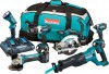 MAKITA DLX6072PT 18V 5Ah LXT 6 Pc. Combo Kit